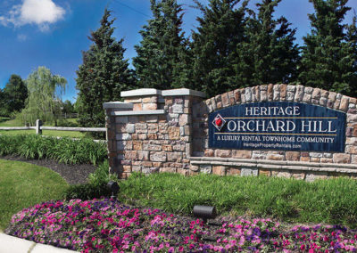 Heritage Orchard Hill Apartment/Townhomes Front Entrance in Perkasie, PA, Bucks County