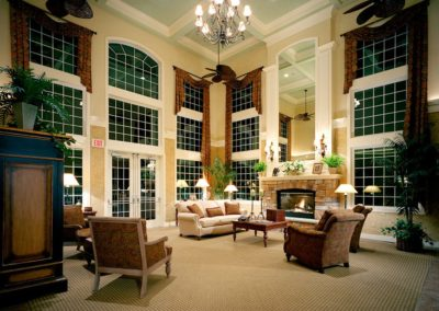 Heritage Orchard Hill Evening View of Clubhouse Community Room in Perkasie, PA