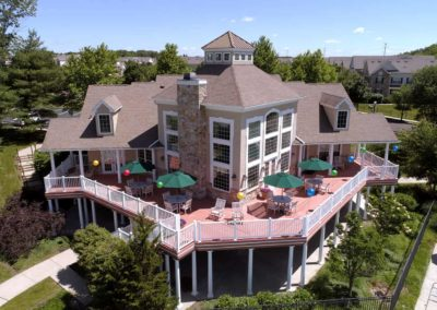 Aerial View of Heritage Orchard Hill Clubhouse in Perkasie, PA