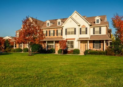 Heritage Orchard Hill Front View of Maplewood and Oakwood Townhomes in Perkasie, PA