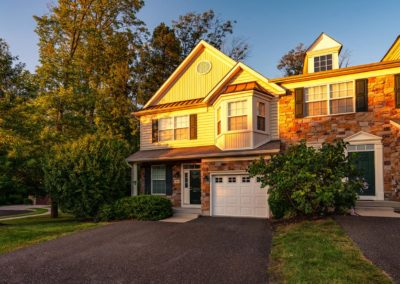 Heritage Orchard Hill Front View of Briarwood 3 Bedroom Townhome with Garage in Perkasie, PA
