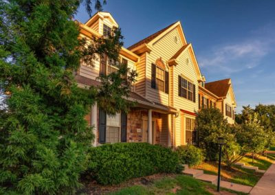 Heritage Orchard Hill Front View of Oakwood Townhome in Perkasie, PA
