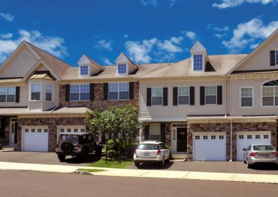 Heritage Orchard Hill Front View of Ashwood 3 Bedroom Townhomes is Perkasie, PA