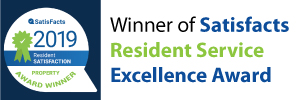 Winner of Satisfacts Resident Service Excellence Award - 2017
